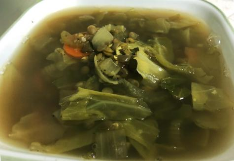 Runner recipes: Cabbage and lentil soup