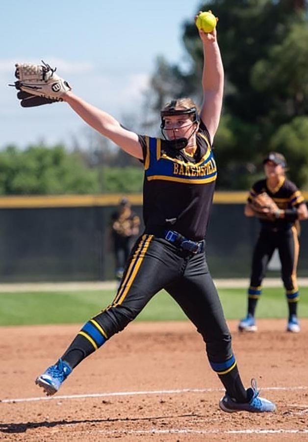 CSUB junior pitcher Daryn Hitzel.