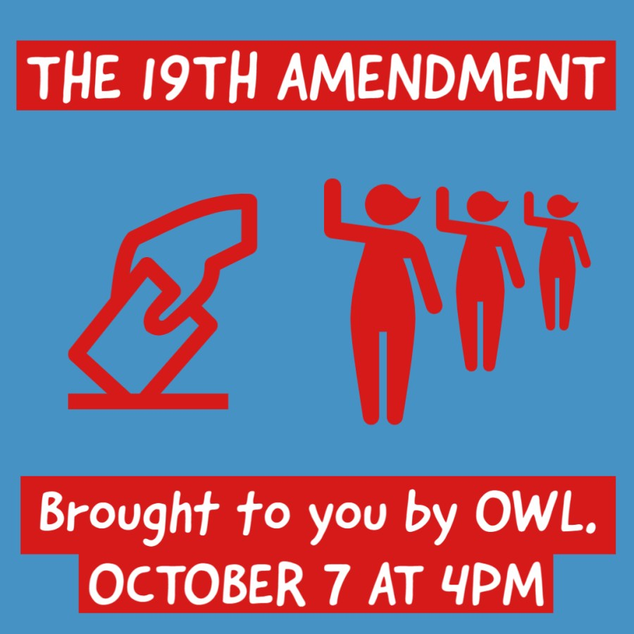 OWL to hold webinar as 100-year anniversary of 19th amendment approaches