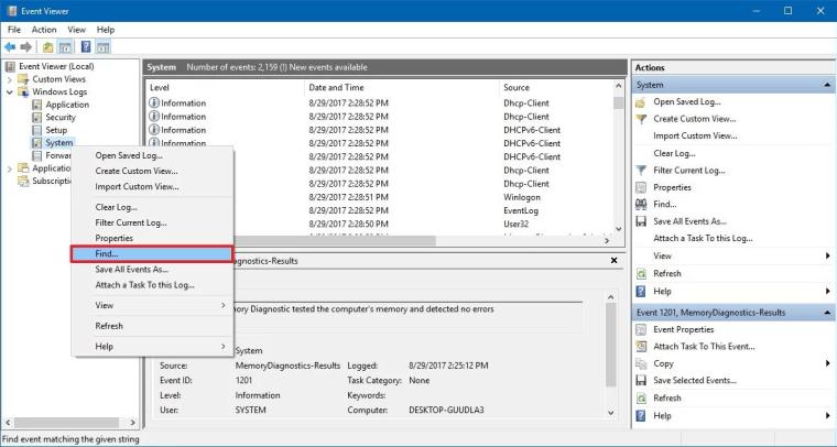 Windows Logs folder