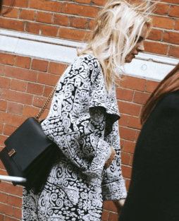 Read the fine print and opt for an oversized statement making coat. Love the effortless chic appeal going on here.