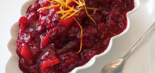 serving cranberry sauce