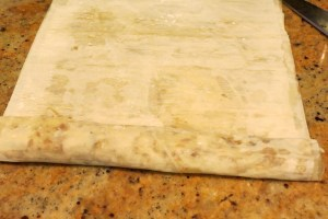 rolling baklava