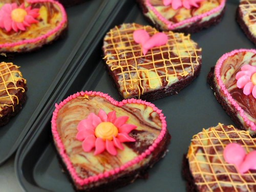 decorated brownies
