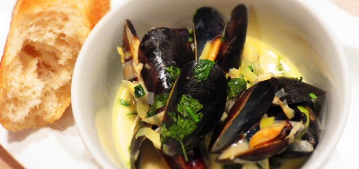 served mussels