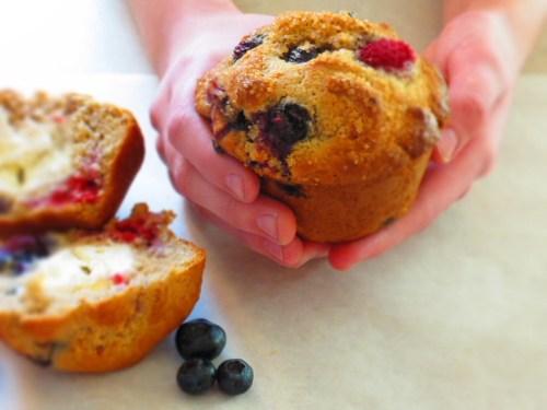 anastasia holding muffin