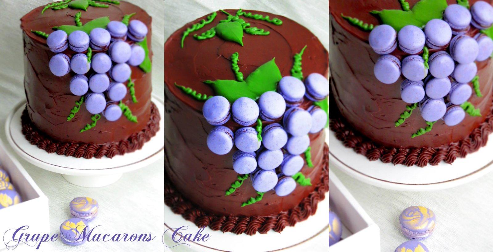 Grape-Macarons-Cake-2