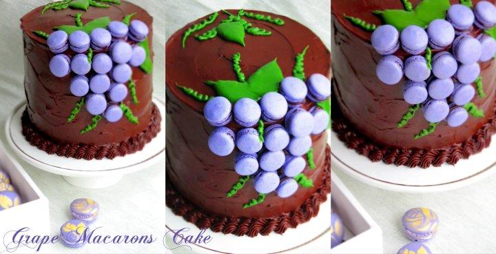 Grape macarons Cake