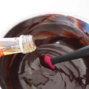 adding brandy to ganache