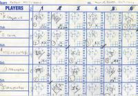 BASEBALL SCOREKEEPING