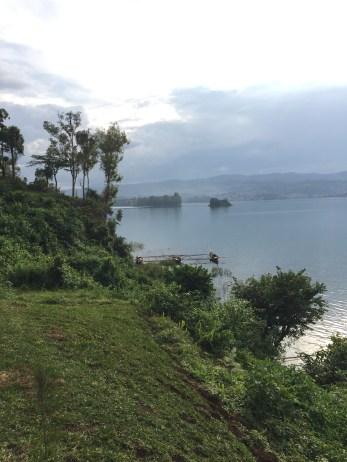 """Fisherman on Lake Kivu (probably catching """"those small fish"""")."""
