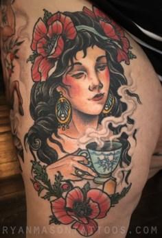 healed tea lady, 2016.