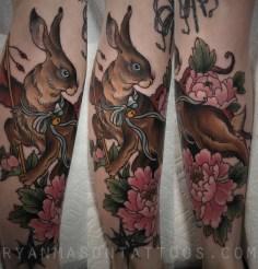oneshot bunny/peonies on laura, 2016.