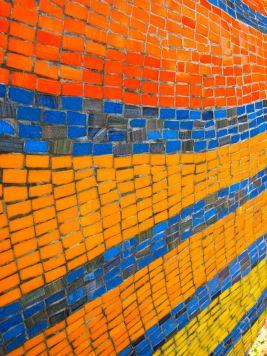 Barra' mosaic tail detail