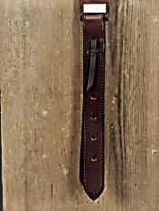 "Leather Off Billet, Rich Brown, 30"""