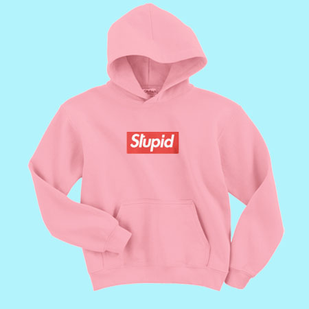 stupid supreme logo sweatshirt and hoodie. Black Bedroom Furniture Sets. Home Design Ideas