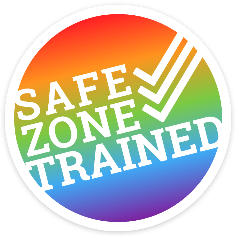 Safe Zone Trained Sticker The Safe Zone Project