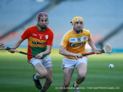 Ciaran Clarke in action against Carlow's Alan Corcoran