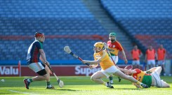 Ciaran Clarke sweeps in the first of his two goals
