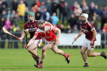 Shamrocks veteran Paul 'Din' Gillan who was magnificent in the Loughgiel defence