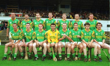 """The Dunloy team of 2000. Not the one who beat Slaughtneil in the final, but the side that lined out against Portaferry in the semi-final. Alastair Elliott (front right) was injured and was replaced by Eamon 'Nipper"""" McKee. Pic by John McIlwaine"""