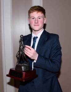 Declan Gough was presented with the Ciaran Heffron Trophy for the the most improved juvenile player of the year.