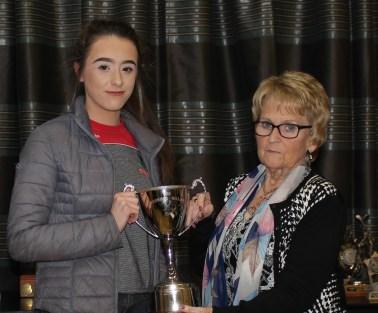 Ciara Connolly with the U13 O`Connor Gillen Cup