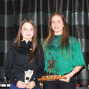 U14 Most Promising Cara Connolly and Lucia McNaughton