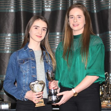 U14 POY Caoimhe McMullan and Lucia McNaughton