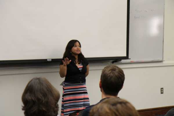 Activist Heang Ly speaks about the discrimination towards Asian-Americans. Ly also runs programs for Asian-American women in leadership development. PHOTO BY MAIRIN QUILLEN