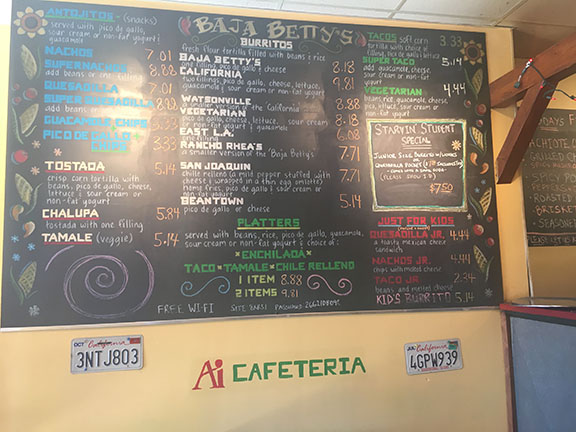 The+menu+at+Baja+Betty%27s+features+many+affordable+Mexican+dishes.+ETHAN+GAINSBORO+%2F+SAGAMORE+STAFF