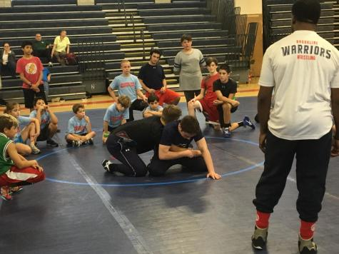 Wrestling team runs clinic for elementary school students