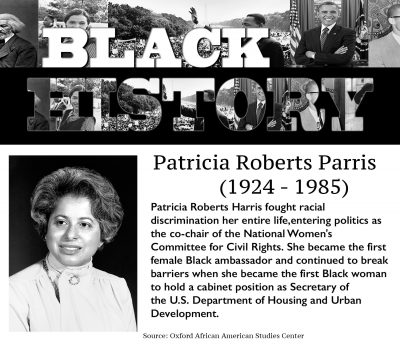 Black History Month: Patricia Roberts Parris