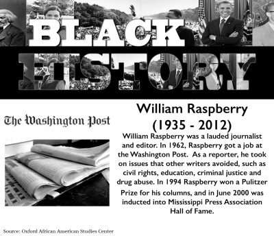 Black History Month: William Raspberry