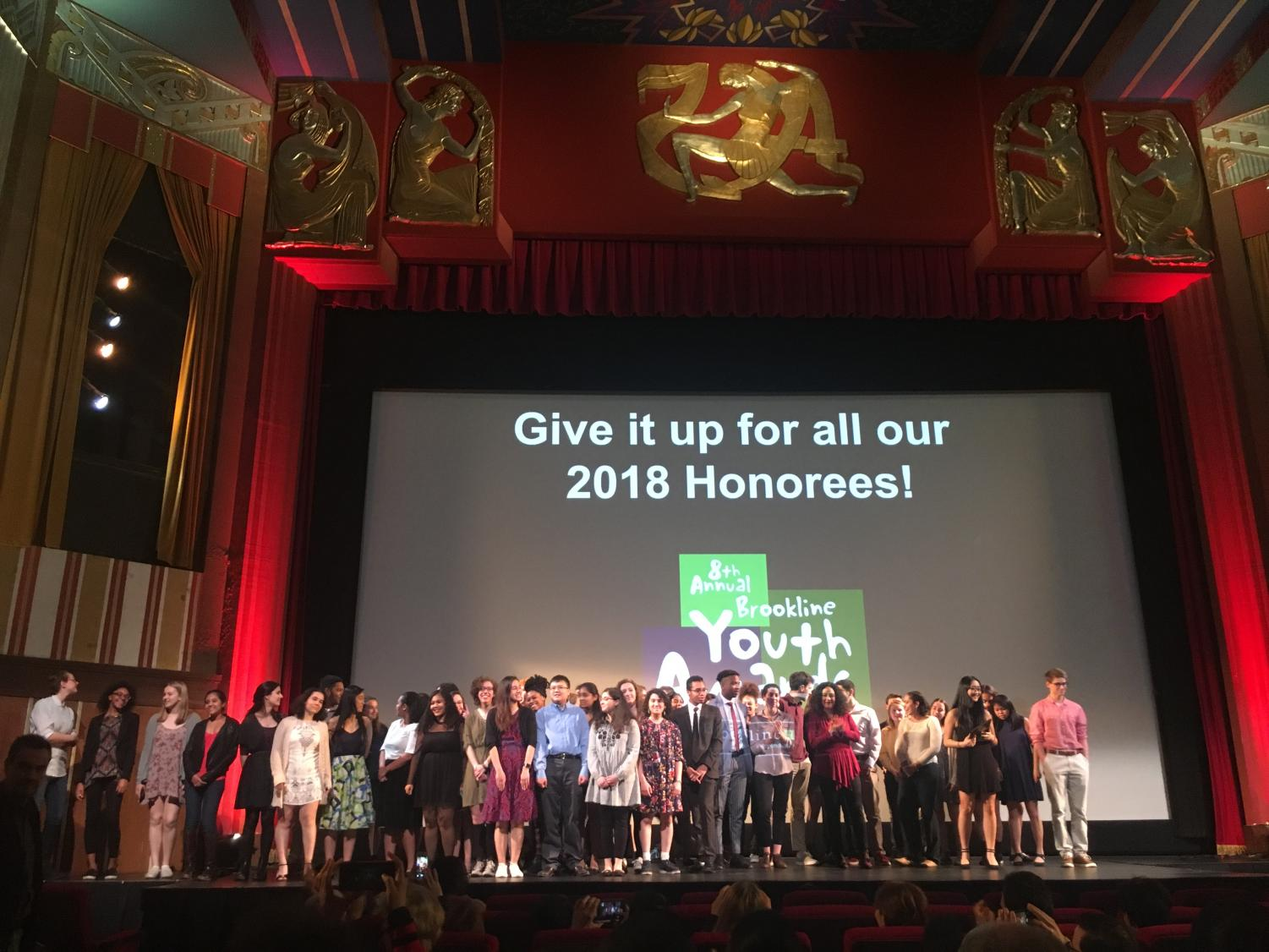 The 8th annual Brookline Youth Award honorees were recognized at the Coolidge Corner Theatre on April 11.
