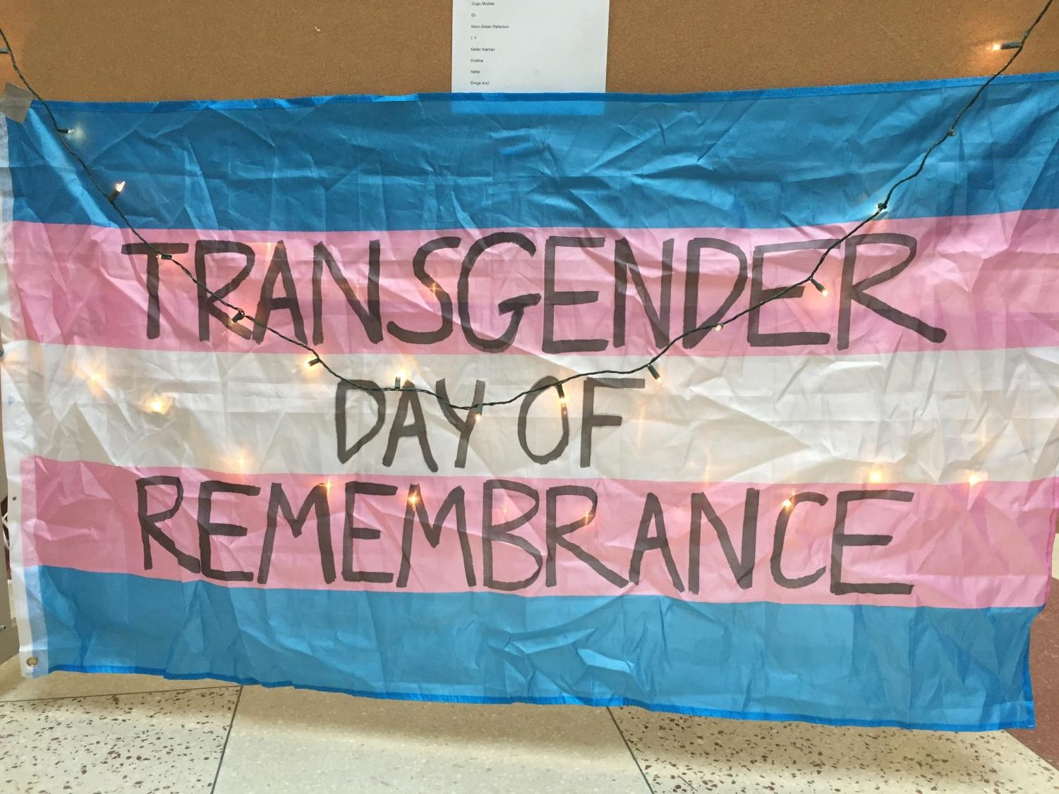 A Transgender Day of Remembrance vigil was held on Thursday, Nov. 29 during X block in the atrium. Transgender Day of Remembrance was first initiated in 1999 to acknowledge the violent deaths of transgender people all around the world.