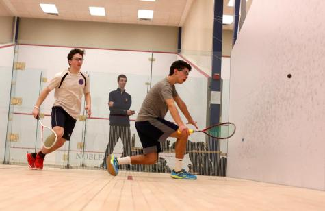 Tennis players use their skills on on the squash court