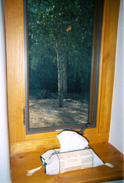 Window with deep sill.