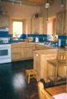 Custom kitchen cabinets.
