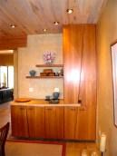 Custom buffet cabinet in dining room.