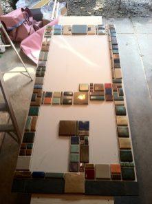 Pewabic tile taking shape.