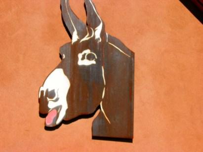 Custom metal donkey.