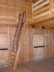 Stair/ladder to Barn loft space.