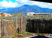 View of Taos Mt. from Portal.