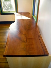 Black Walnut top with live edge.