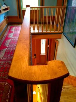 Oak and Maple railing.