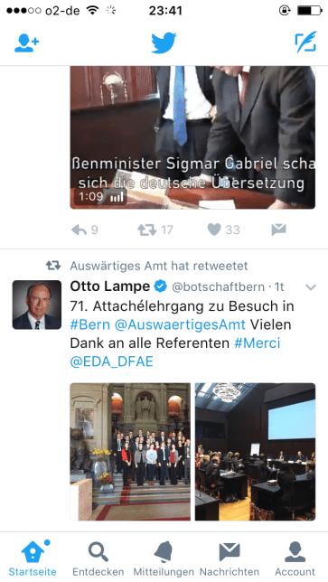 Nachrichten - Screenshot Twitter