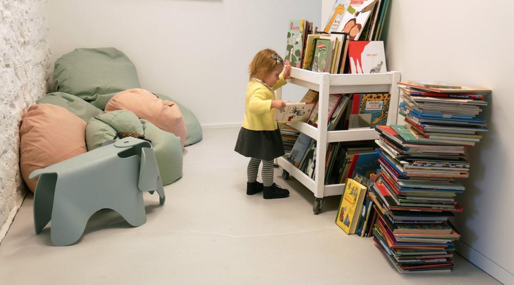 das neue Kinderkunsthaus - Leseecke
