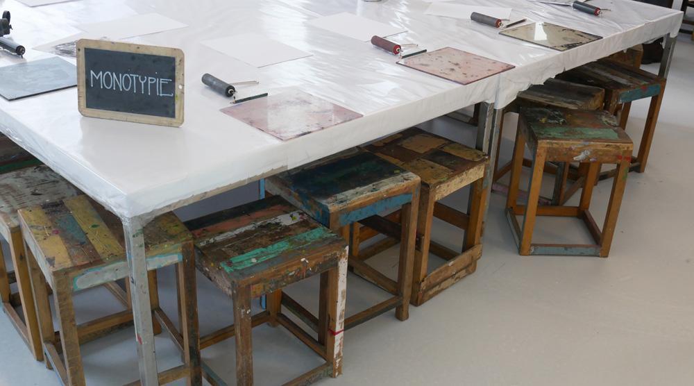 das neue Kinderkunsthaus - Tische