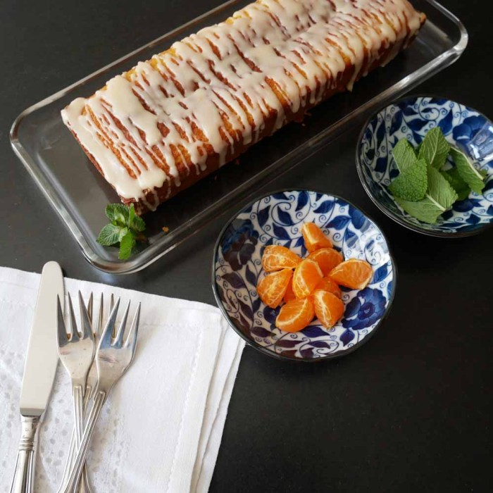 Japanische Teatime - Mandarinenkuchen